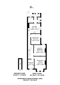 Large floorplan for Castlewood Road, Stamford Hill, N16