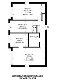 Large floorplan for Lea Court, The Ridgeway, Chingford, E4