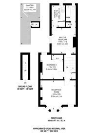 Large floorplan for Inglethorpe Street, Bishop's Park, SW6