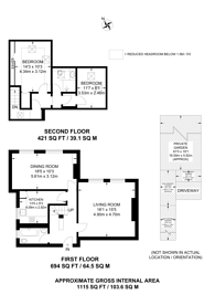 Large floorplan for Mapesbury Road, Mapesbury Estate, NW2