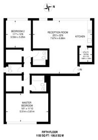 Large floorplan for Kersfield House, Putney, SW15
