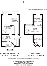 Large floorplan for Wolsey Road, Hampton Court, KT8