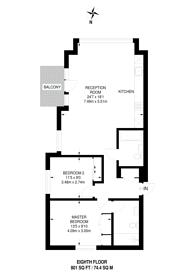 Large floorplan for Botanic Square, Canning Town, E14