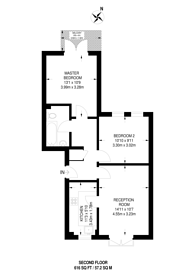Large floorplan for Essex Road, Islington, N1