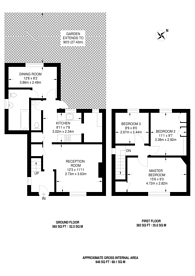 Large floorplan for Clitterhouse Crescent, NW2, Cricklewood, NW2