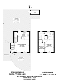 Large floorplan for Gay Close, Willesden Green, NW2