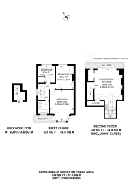 Large floorplan for Aberdeen Road, Dollis Hill, NW10