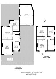 Large floorplan for Burnt Ash Hill, Grove Park, SE12