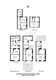 Large floorplan for Sheffield Terrace, Kensington, W8