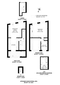 Large floorplan for Walton Street, Knightsbridge, SW3