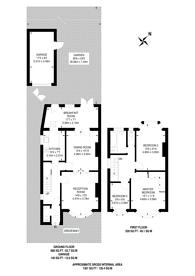 Large floorplan for Vale Road, Worcester Park, KT4