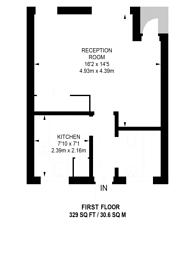 Large floorplan for Banner Street EC1, Clerkenwell, EC1Y