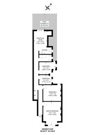 Large floorplan for Southfield Road, Chiswick, W4