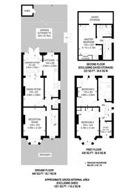 Large floorplan for Roxeth Hill, Harrow on the Hill, HA2