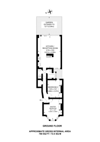 Large floorplan for Portnall Road, Maida Vale, W9