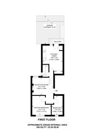 Large floorplan for Wandsworth Bridge Road, South Park, SW6