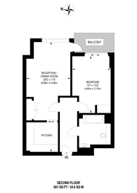 Large floorplan for Royal Mint Gardens, Tower Hill, E1