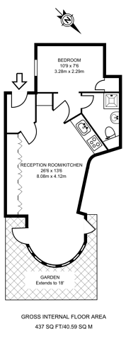 Large floorplan for Oak Village, Hampstead, NW5