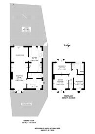 Large floorplan for Wolsey Drive, North Kingston, KT2