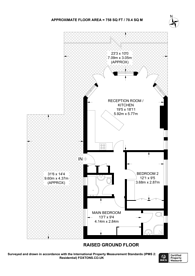 Large floorplan for Edgeley Park, Farley Green, GU5
