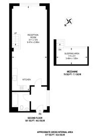 Large floorplan for King Edwards Road, South Hackney, E9