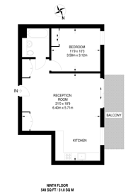 Large floorplan for Newnton Close, Manor House, N4