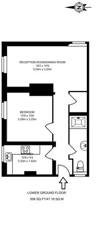 Large floorplan for Fanshaw Street, Hoxton, N1