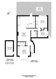 Large floorplan for Roehampton Vale, Roehampton, SW15