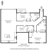 Large floorplan for William Morris Way, Sands End, SW6