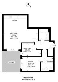 Large floorplan for Boulevard Drive, Colindale, NW9