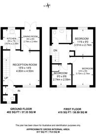 Large floorplan for Southway, Guildford, GU2