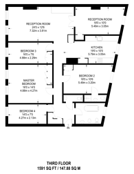 Large floorplan for Emperors Gate, South Kensington, SW7