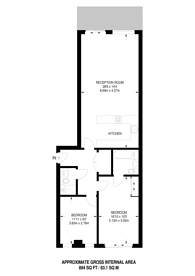 Large floorplan for Fitzgerald Court, Angel, N1