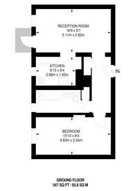 Large floorplan for De Beauvoir Estate, Islington, N1
