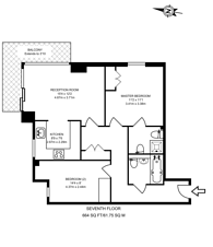 Large floorplan for Moore House, Canary Wharf, E14