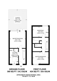 Large floorplan for Cardigan Road, Bow, E3