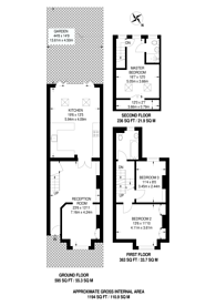 Large floorplan for Queens Road, New Malden, KT3