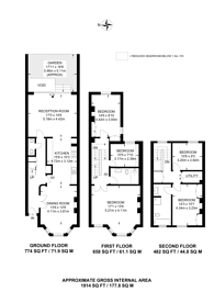 Large floorplan for Weltje Road, Chiswick, W6
