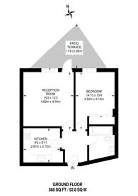 Large floorplan for Harrowby Street, Marylebone, W1H