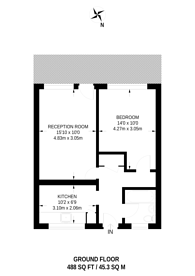 Large floorplan for Phipps Bridge Road, CR4, Mitcham, CR4