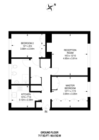 Large floorplan for Hemingford Road, Cheam, SM3