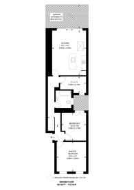 Large floorplan for Kingston Road, South Wimbledon, SW19
