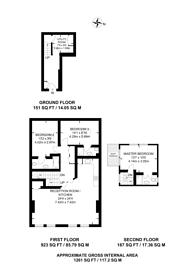Large floorplan for Astwood Mews, South Kensington, SW7