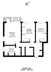 Large floorplan for Prospect Ring, East Finchley, N2