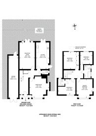 Large floorplan for Coombe Lane, West Wimbledon, SW20