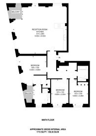 Large floorplan for Thomas Cowe Walk, Nine Elms, SW11