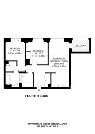 Large floorplan for Charles Cowes Walk, Nine Elms, SW8