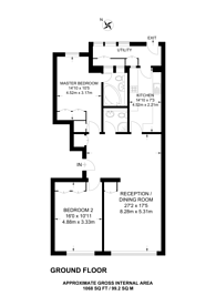 Large floorplan for Princes Gate, Kensington, SW7
