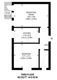 Large floorplan for Luxborough House, Marylebone, W1U