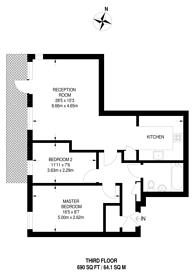 Large floorplan for Mikardo Court, Poplar, E14